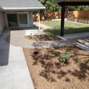drought tolerant landscape with custom pavers